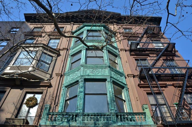 Edificios históricos, Brooklyn, NYC imagenes de archivo