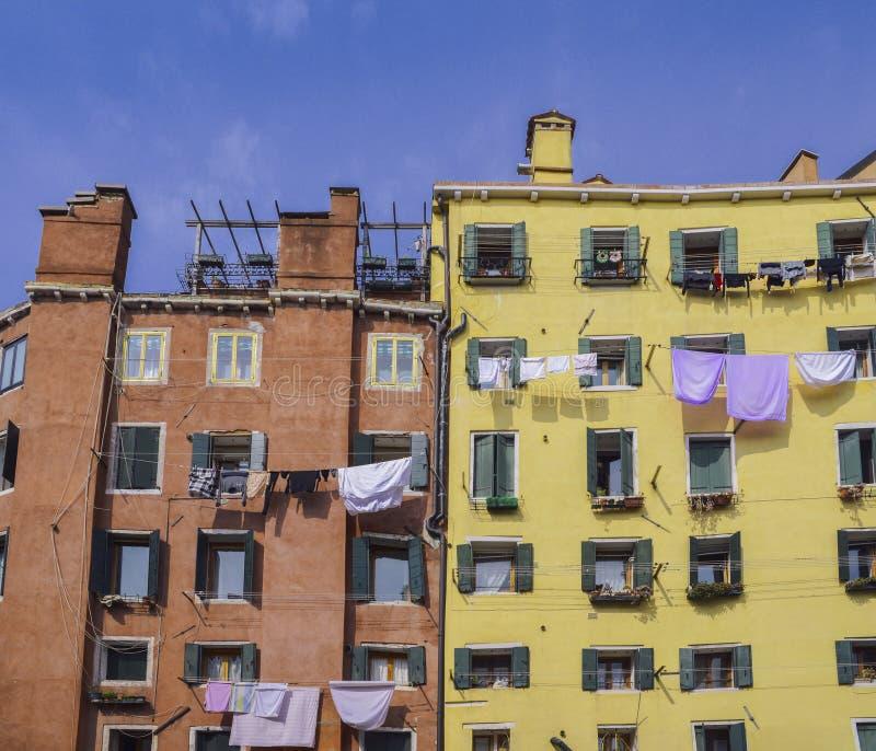 Edificios históricos en distrito judío del ghetto del ` s de Venecia imágenes de archivo libres de regalías