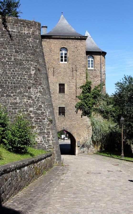 Edificios históricos en Luxemburgo fotos de archivo