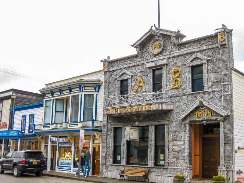 Edificios históricos, Skagway, Alaska imágenes de archivo libres de regalías