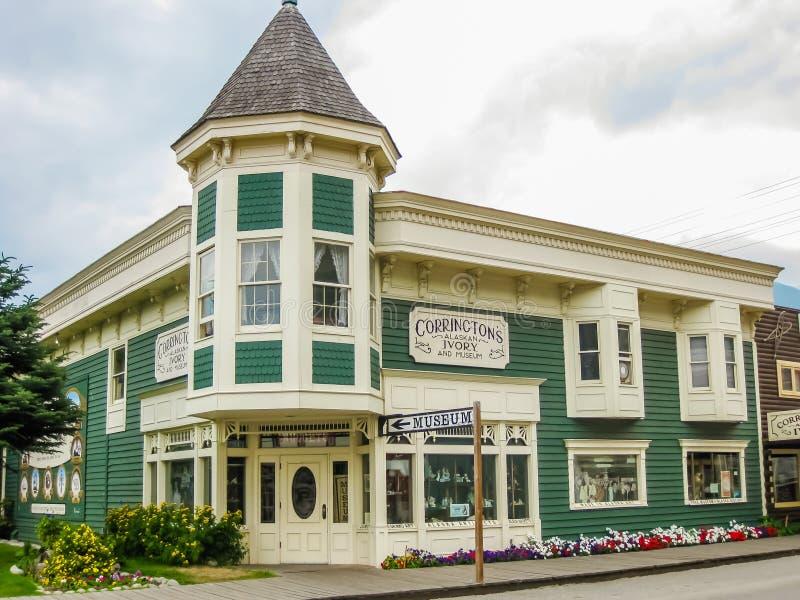 Edificios históricos, Skagway, Alaska fotos de archivo libres de regalías