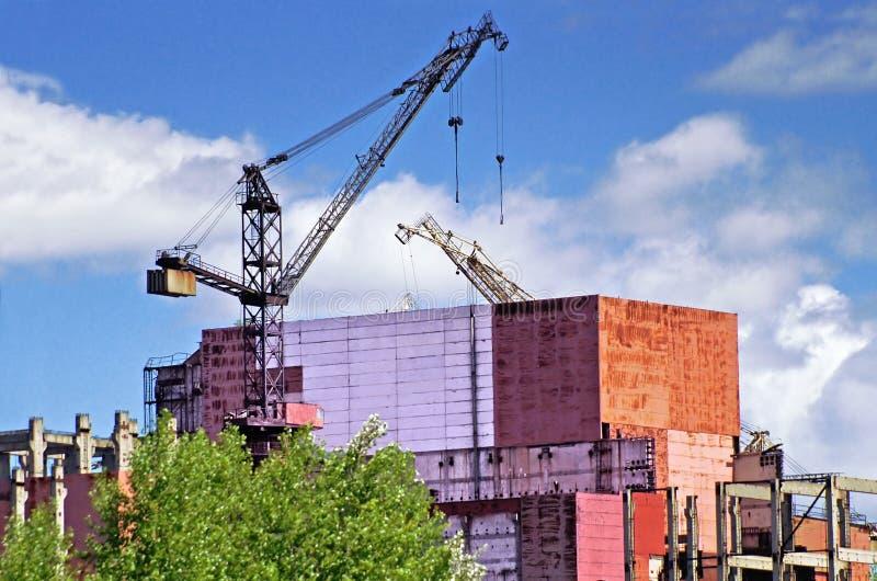 Edificios industriales abandonados en la zona de Chernóbil DISA de Chornobyl imagen de archivo