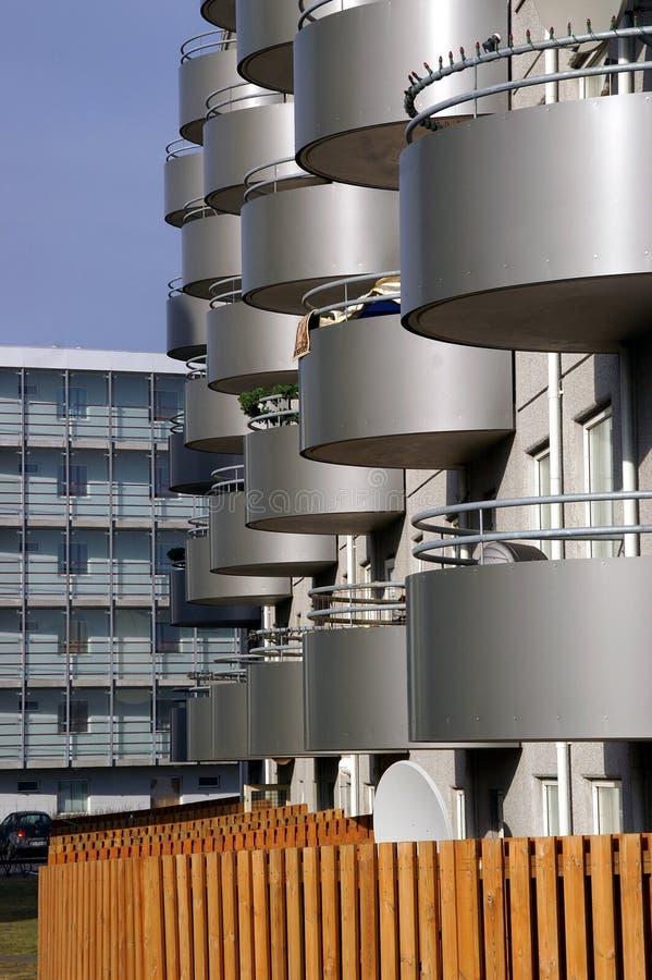 Edificios islandeses modernistas imágenes de archivo libres de regalías