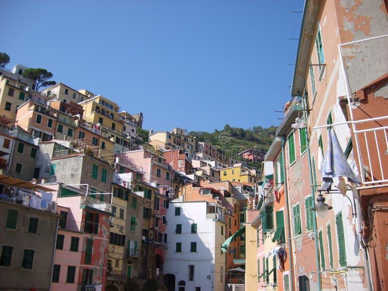 Edificios Italia de la ladera imagenes de archivo