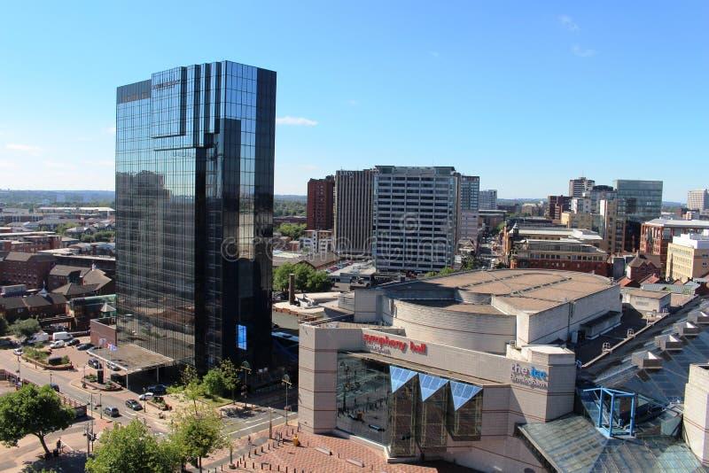 Edificios modernos, centro de ciudad de Birmingham, Inglaterra imágenes de archivo libres de regalías