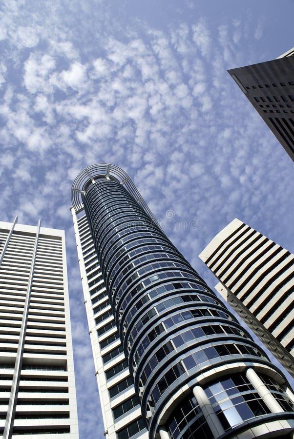 Edificios modernos de Singapur fotos de archivo libres de regalías