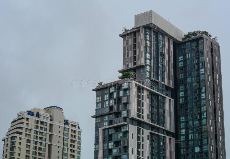 Edificios modernos en Bangkok, Tailandia foto de archivo libre de regalías