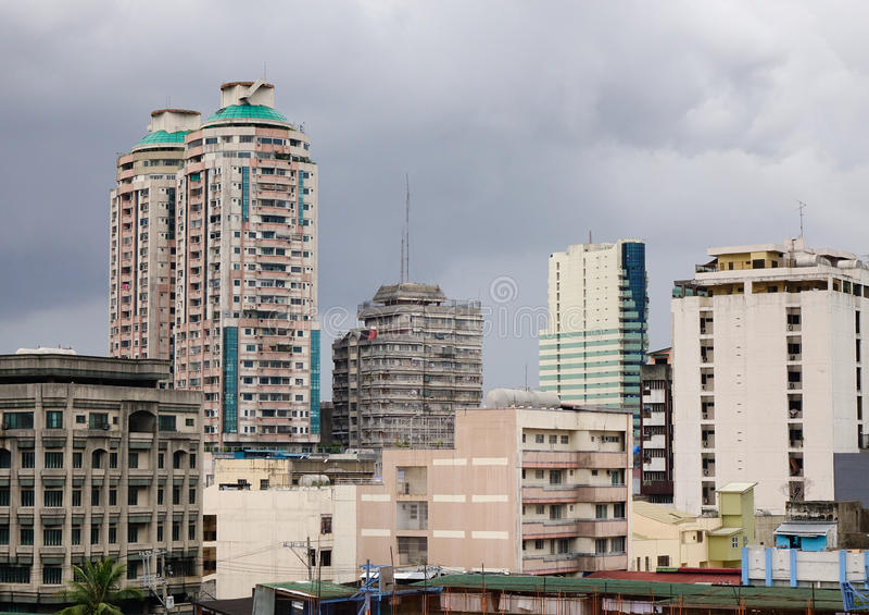 Edificios modernos en Bangkok, Tailandia imágenes de archivo libres de regalías