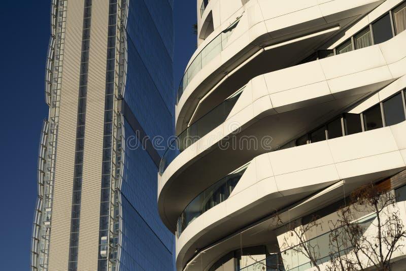 Edificios modernos en Citylife, Mil?n fotografía de archivo