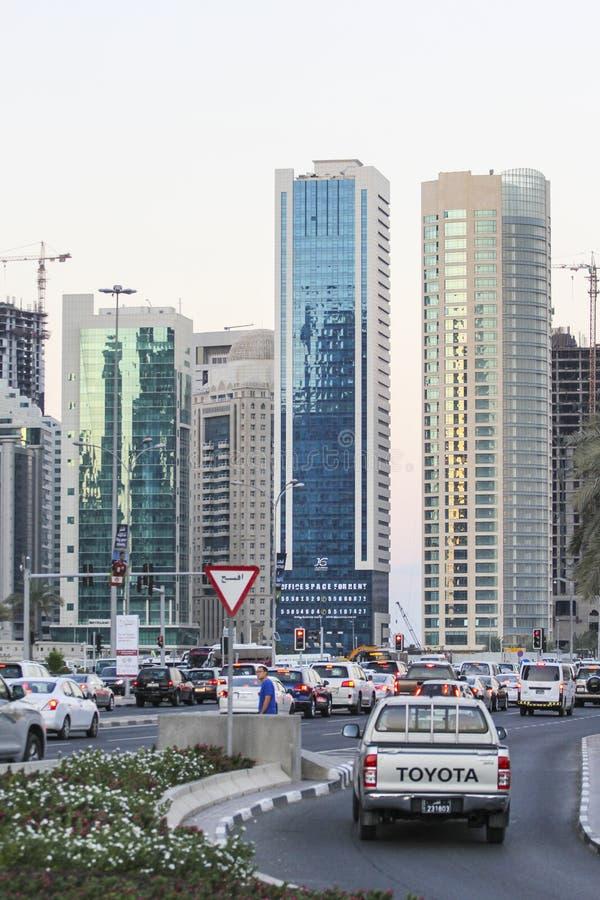 edificios modernos en Doha, Qatar imagen de archivo libre de regalías