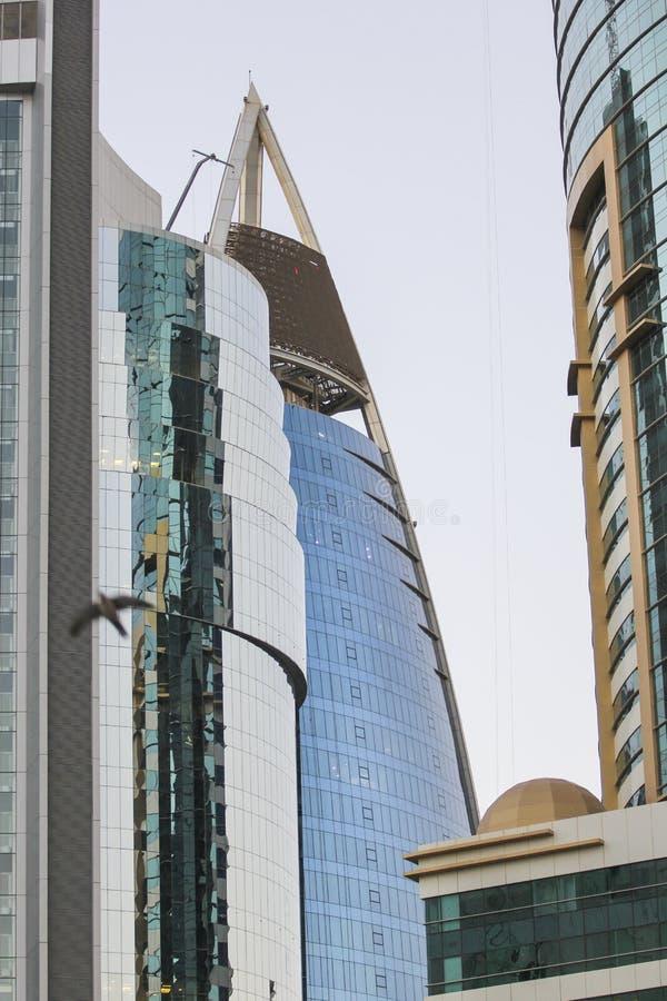 edificios modernos en Doha, Qatar foto de archivo libre de regalías