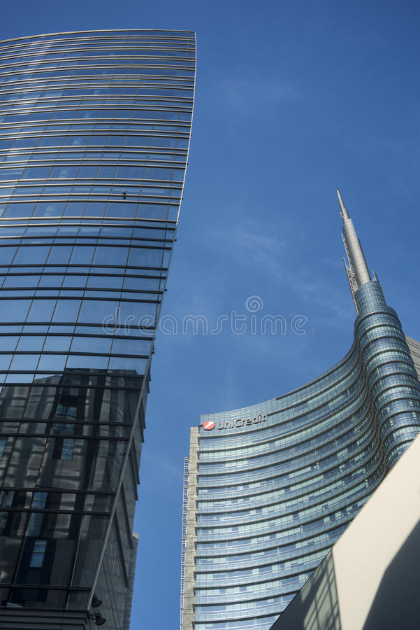 Edificios modernos en Milán fotografía de archivo libre de regalías