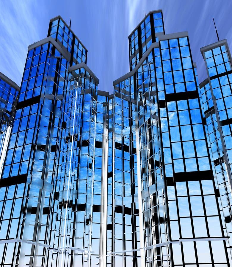 Edificios modernos fachadas stock de ilustraci n for Fachadas edificios modernos