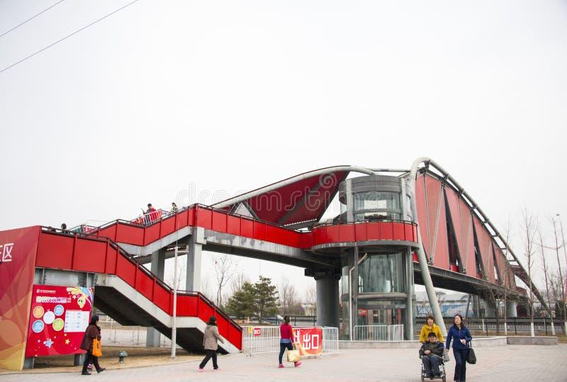 Edificios modernos, puentes de los pasillos fotografía de archivo