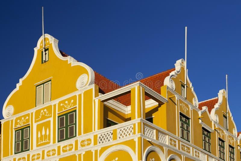 Edificios monumentales en Willemstad, Curaçao foto de archivo