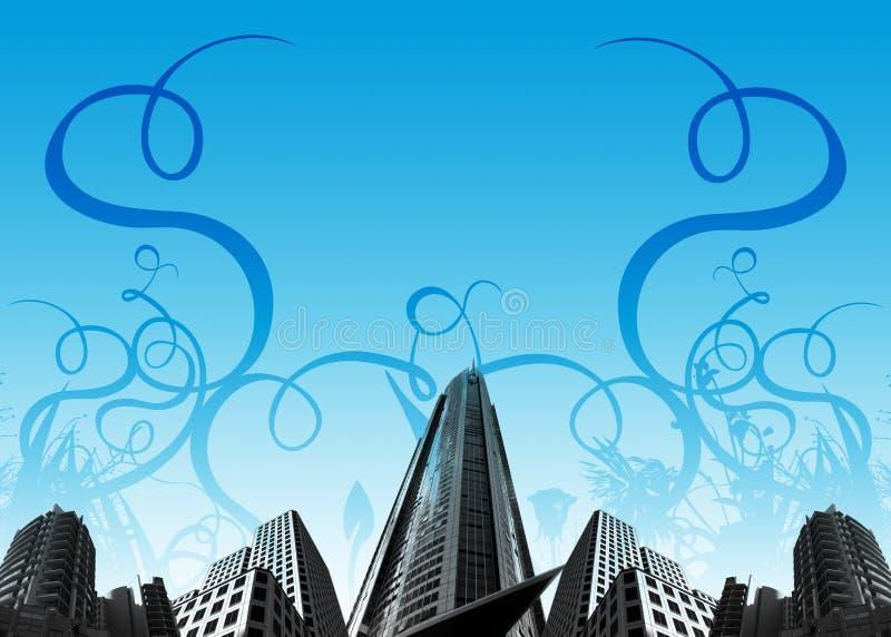Edificios/plantas urbanos stock de ilustración