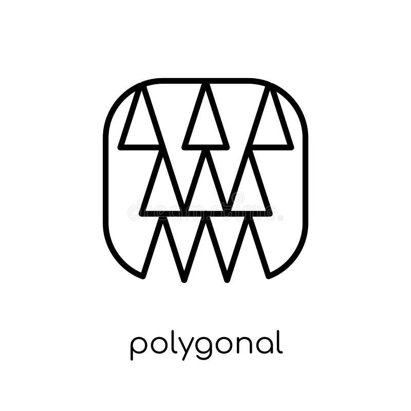 Edificios poligonales del pequeño icono de los triángulos del collec de la geometría stock de ilustración