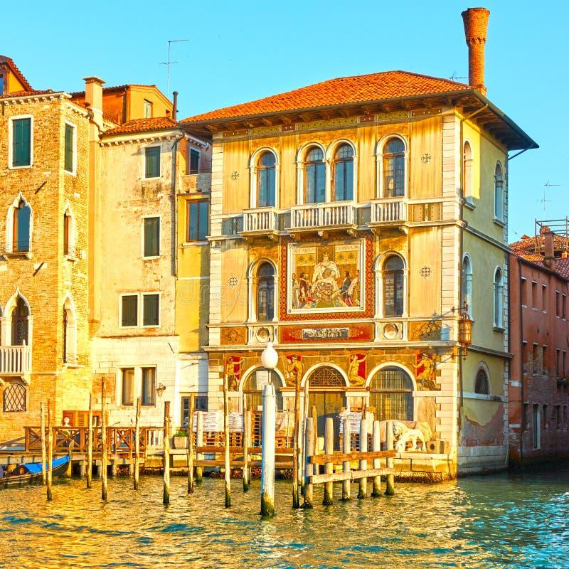 Edificios por Grand Canal en Venecia fotografía de archivo