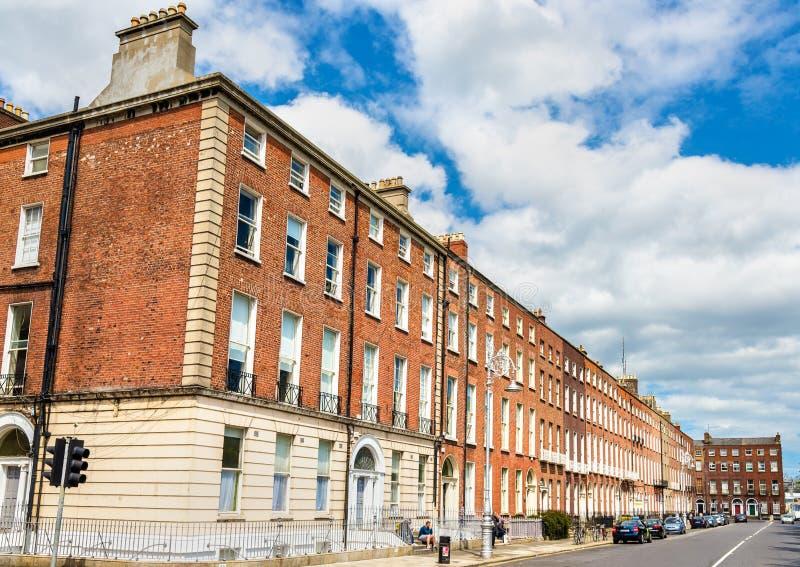 Edificios residenciales en Dublín - Irlanda fotografía de archivo