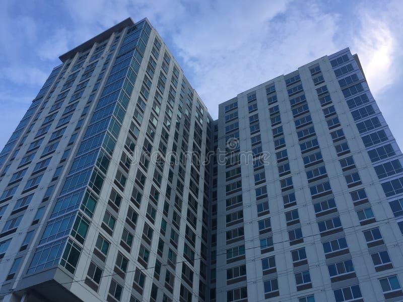 Edificios residenciales en Stamford, Connecticut imagenes de archivo