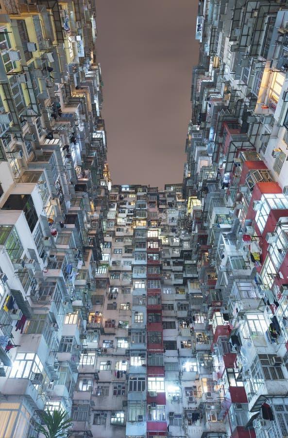 Edificios residenciales viejos en Hong Kong foto de archivo libre de regalías