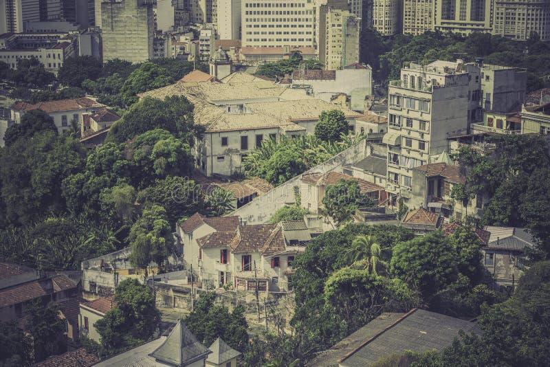 Edificios típicos en la vieja parte de Rio de Janeiro fotos de archivo