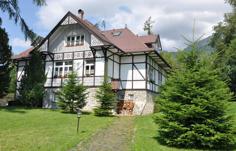 Edificios tradicionales, Eslovaquia, Europa fotografía de archivo