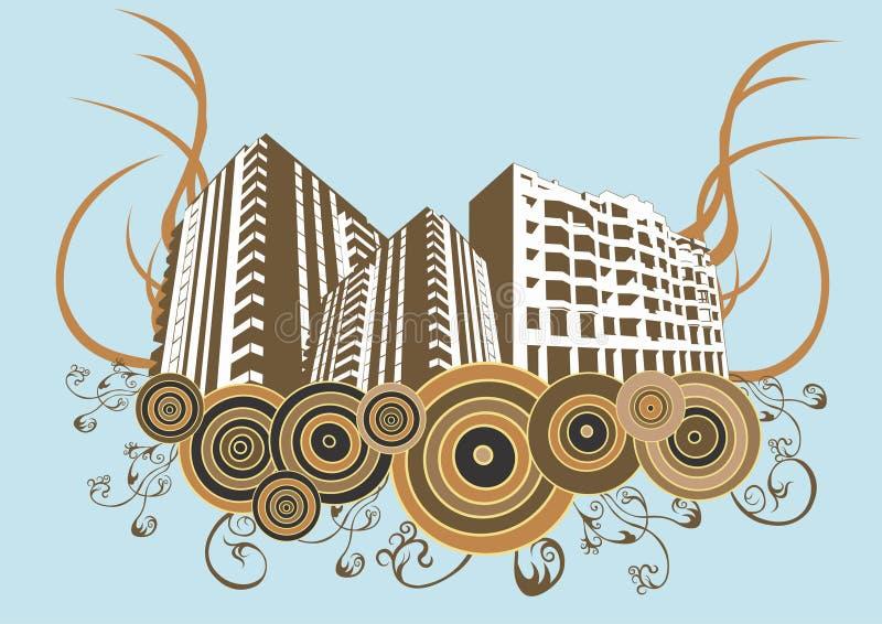Edificios urbanos stock de ilustración