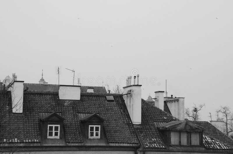 Edificios viejos de la ciudad imagenes de archivo