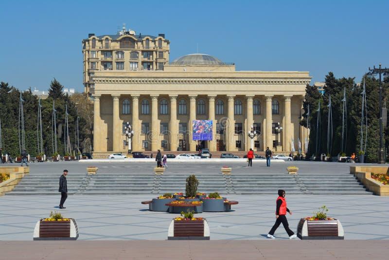 Edificios viejos de la ciudad de Baku, museo de la casa imagen de archivo libre de regalías