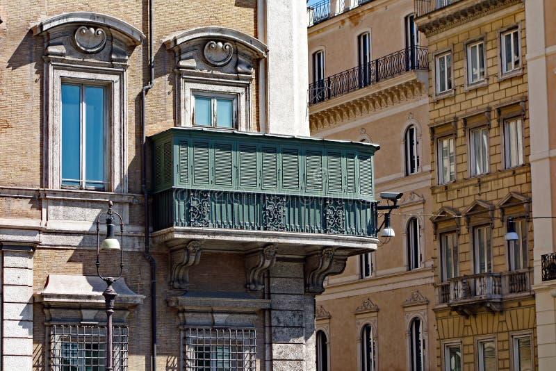 Edificios viejos de Roma, detalles, Italia fotos de archivo libres de regalías