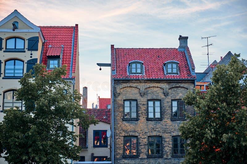 Edificios viejos en Copenhague fotografía de archivo