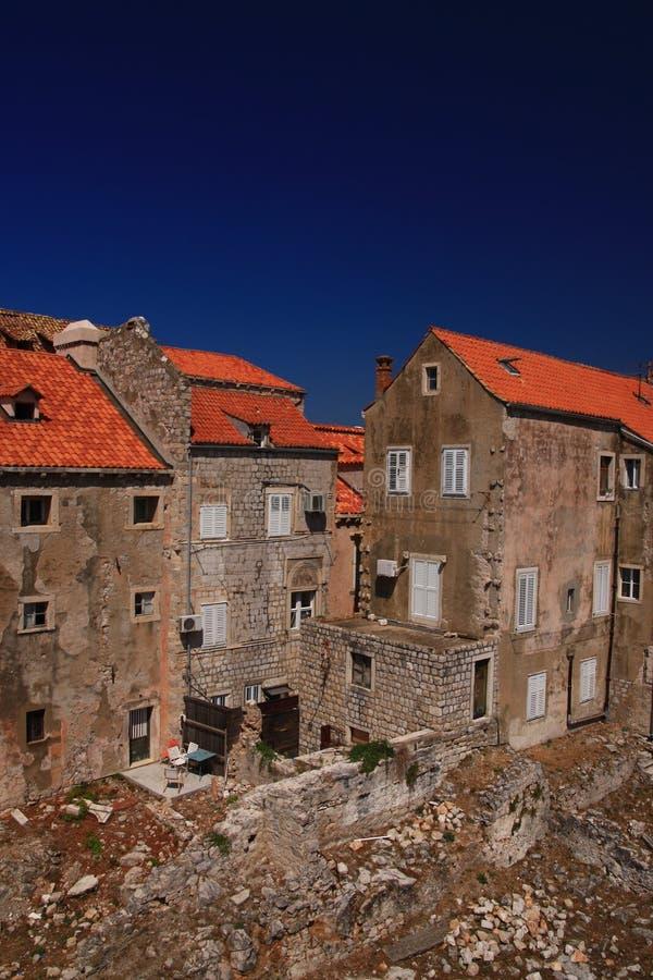 Edificios viejos en Dubrovnik fotografía de archivo libre de regalías