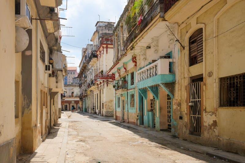 Edificios viejos en La Habana, Cuba imágenes de archivo libres de regalías