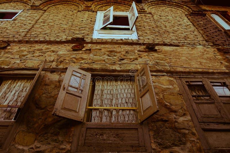Edificios viejos en Srinagar, la India fotografía de archivo libre de regalías