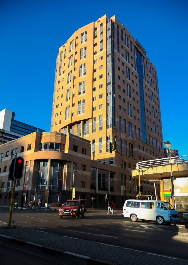 Edificios y caminos centrales del distrito financiero de Johannesburgo imagen de archivo libre de regalías