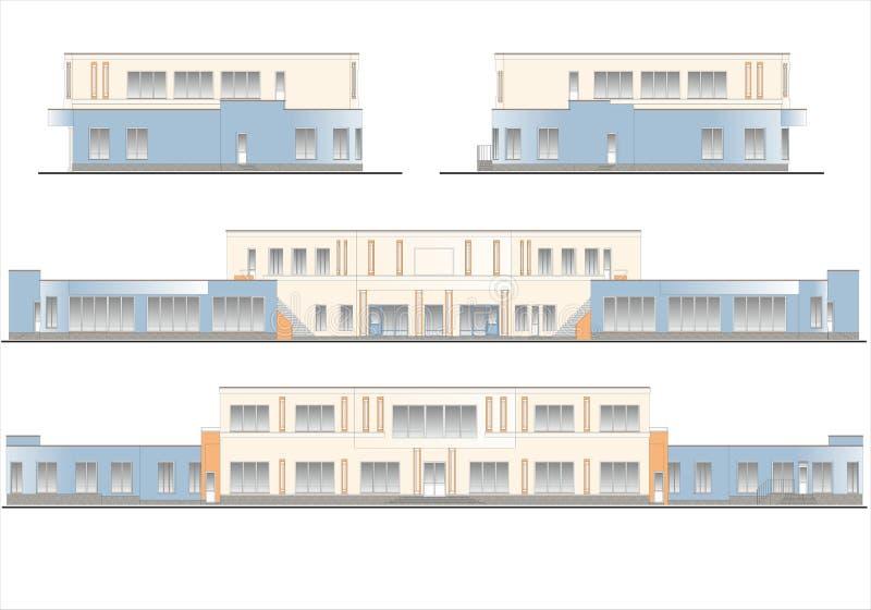 Edificios y estructuras del temprano y de los mediados del siglo XX imagenes de archivo