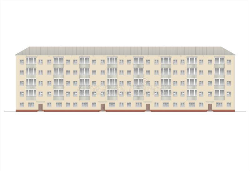 Edificios y estructuras del temprano y de los mediados del siglo XX Dibujos de casas de la arquitectura clásica del final de 18-1 ilustración del vector