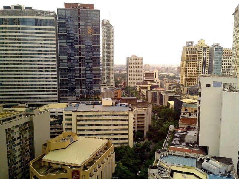 Edificios y rascacielos foto de archivo libre de regalías