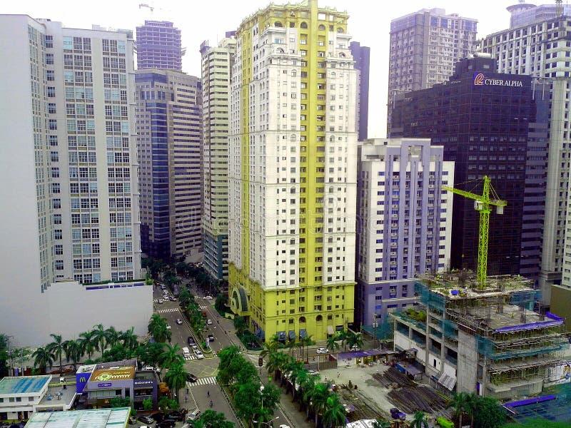 Edificios y rascacielos en el complejo de Ortigas en la ciudad de Pasig, Manila, Filipinas fotos de archivo