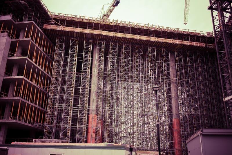 Edilizia popolare in costruzione immagine stock