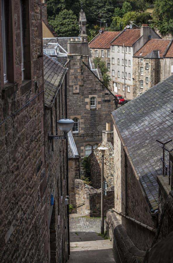Edimbourg, Ecosse, le BRITANNIQUE - doyen Village image libre de droits
