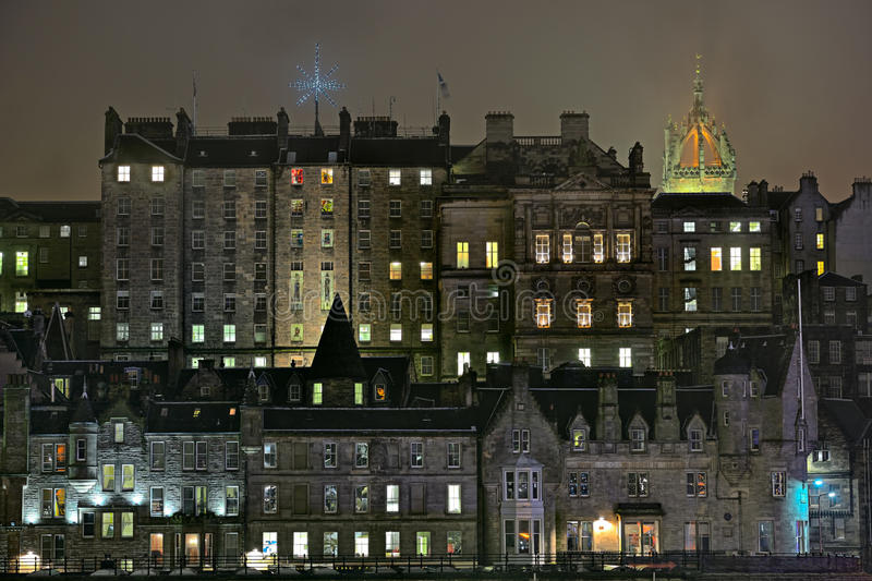 Edimbourg, Ecosse, vieille ville, constructions médiévales photographie stock
