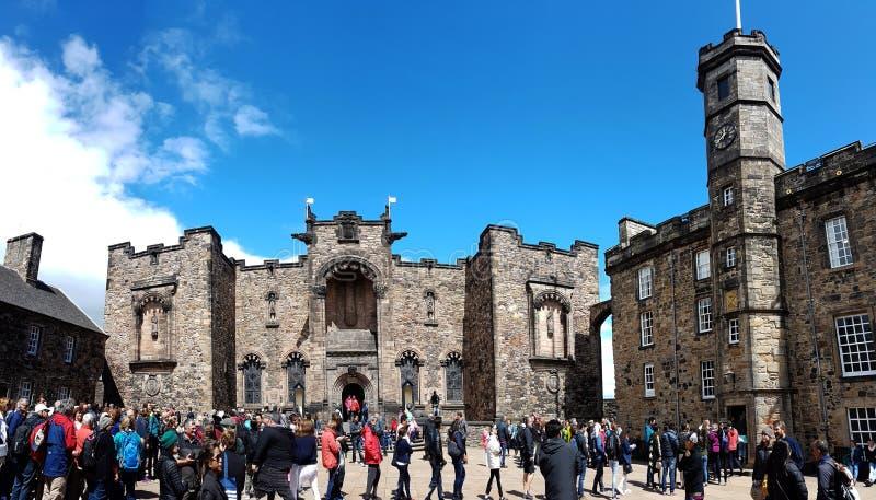 Edimburg kasztel Szkocja zdjęcie stock
