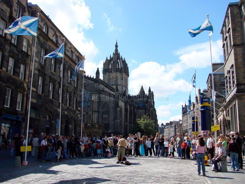 Edimburgo: Artista de la calle foto de archivo libre de regalías
