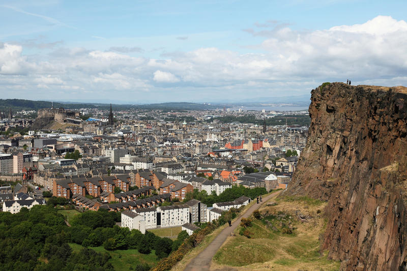 Edimburgo do crag de Salisbúria imagem de stock royalty free