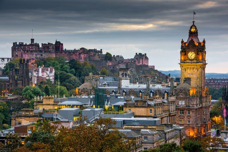Edimburgo na noite imagens de stock royalty free