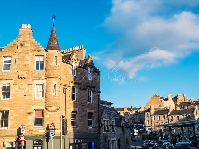 EDIMBURGO, SCOZIA 26 febbraio 2016 costruziona nella città di Edimburgo fotografia stock libera da diritti