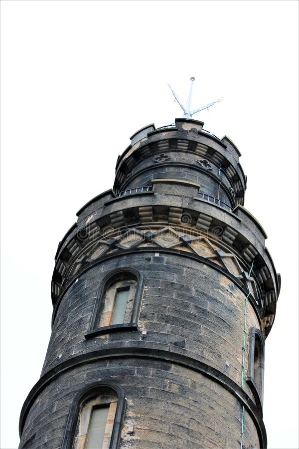 Edinburg för monument för Nelson ` s arkivbild