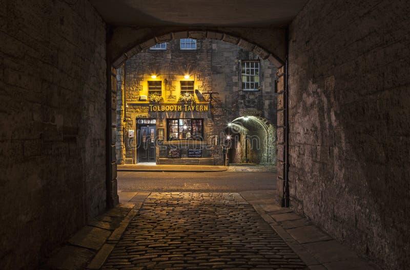 Edinburg för Tolbooth krogiin arkivfoton